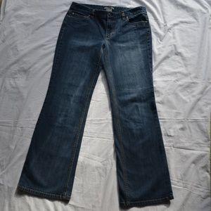 Ann Taylor Slim Fit Medium Wash Bootcut Jeans Sz 8